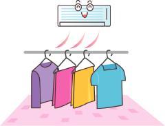 洗濯物も素早く乾燥